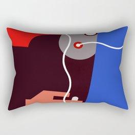A poster by Berény. Rectangular Pillow