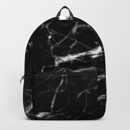 modern chic minimalist abstract black marble Backpack