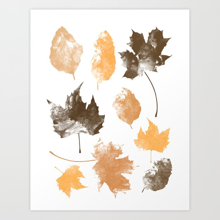Sunday's Society6 | Autumn leaves art work