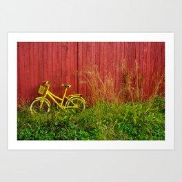 Yellow Bike Art Print