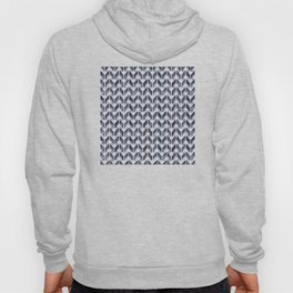 Watercolor Zig Zag Pattern - Indigo Blue Hoody