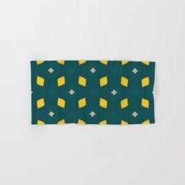 Playful Abstract Lemons Geometry Background Hand & Bath Towel