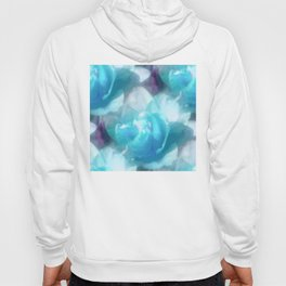 Turquoise abstracted tulips Hoody