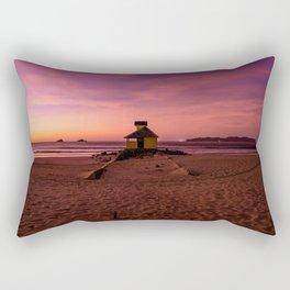 Pink and purple beach skies Rectangular Pillow