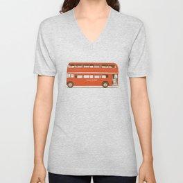 Double-Decker London Bus Unisex V-Neck