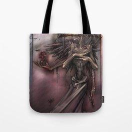 Bird Skull Prophesy Tote Bag