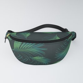 Tropical Night Palms Pattern #1 #tropical #decor #art #society6 Fanny Pack