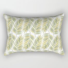 The Leaf Olive Green Rectangular Pillow