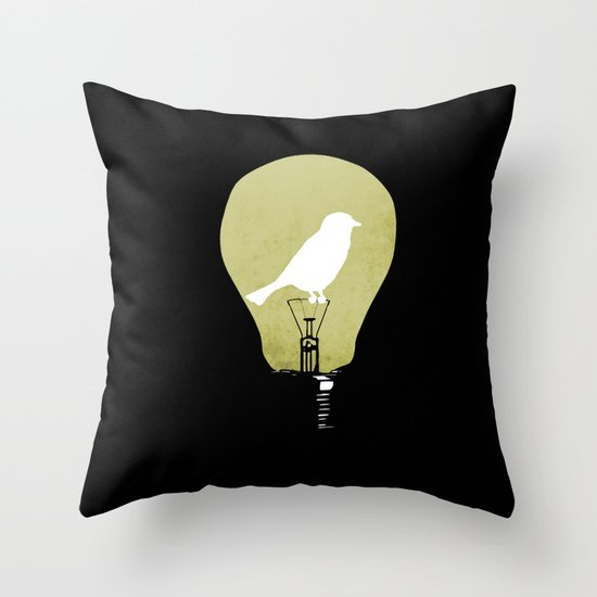 ideas take flight Throw Pillow