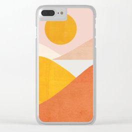 Abstraction_Mountains Clear iPhone Case