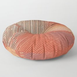 Gemstone #3: a textured, abstract piece with a hint of gold by Alyssa Hamilton Art Floor Pillow