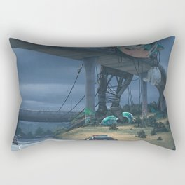 Incident On The Edge Of Town Rectangular Pillow