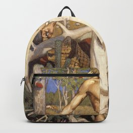 Akseli Gallen-Kallela - Kullervo Cursing - Digital Remastered Edition Backpack