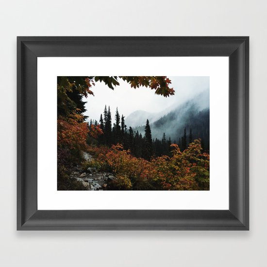 Fall Framed Trail Framed Art Print