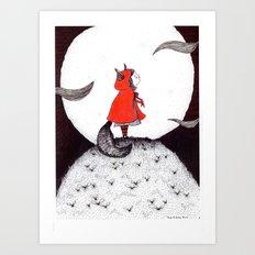 Red Riding Howl Art Print