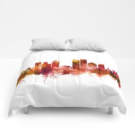 Dayton Ohio Skyline Comforters