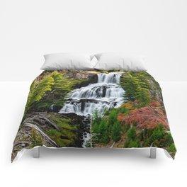 Undine Falls In Yellowstone National Park Comforters