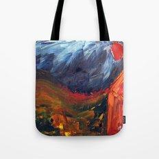 Expressionist Landscape Tote Bag