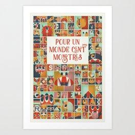 Cute Monsters Poster Art Print