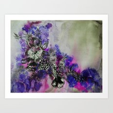 Purple Bouquet Art Print