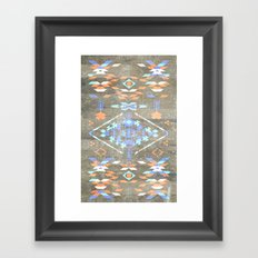 Native Aztec Framed Art Print