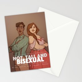 Hot, tall and bi Stationery Cards