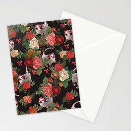 Opossum pattern Stationery Cards