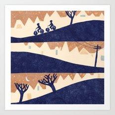 Lovely Hills of San Francisco Art Print