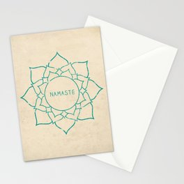 Namaste Lotus Art Print Stationery Cards