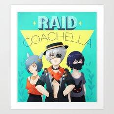 Raid Coachella Art Print