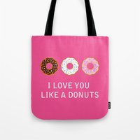 food Tote Bags featuring food by mark ashkenazi
