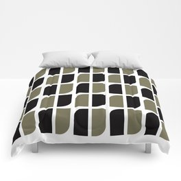 Geometric Pattern #41 (black gray) Comforters