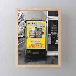 Yellow Tobacco Machine in Bologna Street Photography Framed Mini Art Print