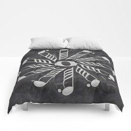 Music mandala 3 on chalkboard Comforters