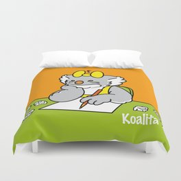 Koalita at school Duvet Cover