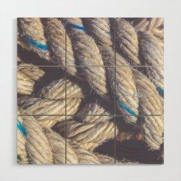 Crossing sling rope Wood Wall Art