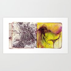 Scribbles and doodles Art Print