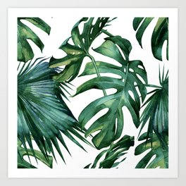 Simply Island Palm Leaves Art Print