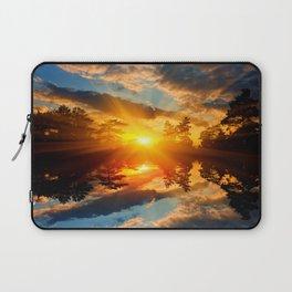 Sunset over Lake Laptop Sleeve