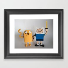 Wooden Toy Finn & Jake Framed Art Print