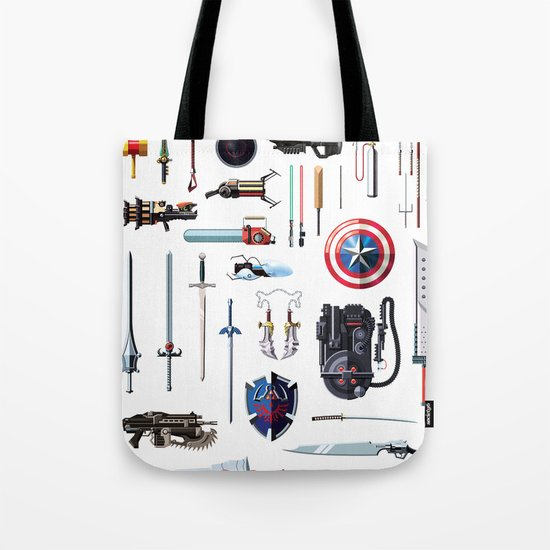 Famous Weapons Tote Bag