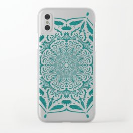 King's rest Mandala Clear iPhone Case