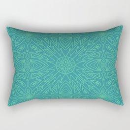 Symmetry Blue Rectangular Pillow