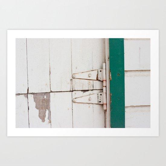 the barn door  Art Print