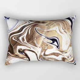 Liquid Bronze and Marble Rectangular Pillow