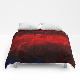 Red And Black Luxury Abstract Gothic Glam Chic by Corbin Henry Comforters
