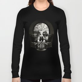 Room Skull B&W Long Sleeve T-shirt