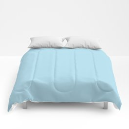 Solid Light Coral Blue Color Comforters