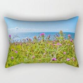 The Lizard Peninsula Thistles Rectangular Pillow
