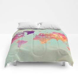 world map 102 #worldmap #map Comforters
